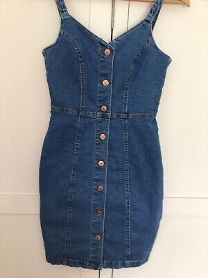 £8 • Buy New Look Button Up  Denim Dress Size 8