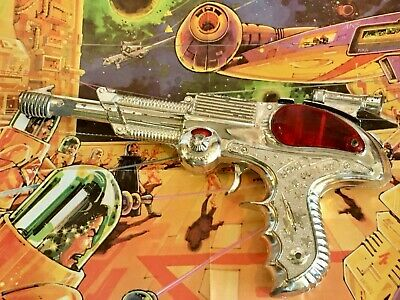 £85 • Buy SPACE OUTLAW VINTAGE BCM ATOMIC PISTOL RAY GUN TOY 1950's & POSTER