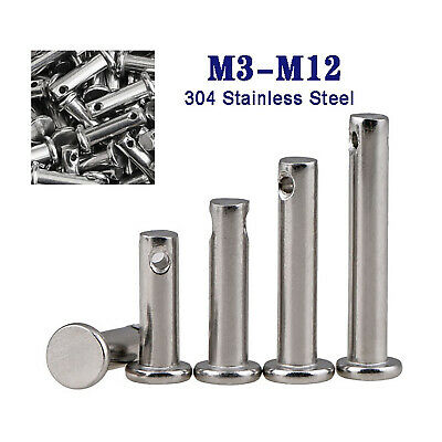 $3.89 • Buy A2 Stainless Clevis Pin For Retaining R Clips & Cotter Split Pins M3M4M5M6M8-M12