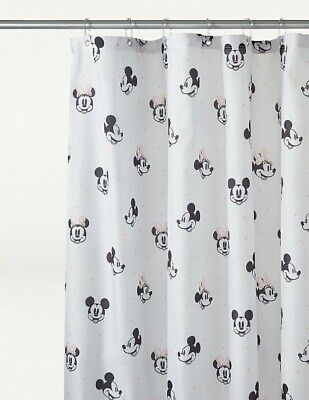 £14.70 • Buy ! Disney Mickey Minnie Mouse Shower Curtain Face Printed 180cm Waterproof NEW