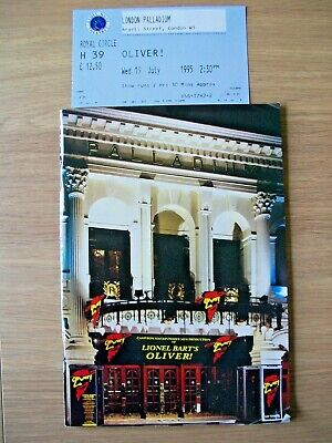 £2.50 • Buy Vintage Theatre Programme - Oliver! By Lionel Bart Plus Ticket From 1995