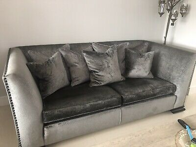 £750 • Buy Duresta Sofa, Snuggle Chair, Arm Chair And Pouffe - Reduced Starting Bid