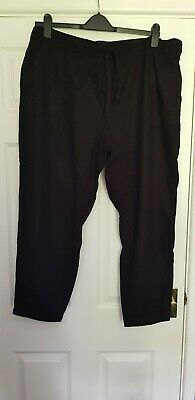 £5.50 • Buy  Next Linen Blend Tapered Trousers Black Size  22