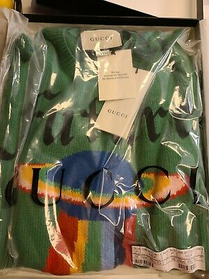 $895 • Buy 100% Authentic GUCCI Future UFO Wool Crewneck Green Sweater Size Large