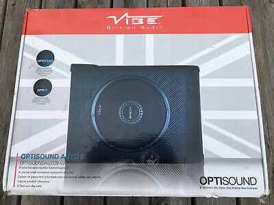 £49.99 • Buy Vibe Optisound Auto 8 PASSIVE Underseat Car Subwoofer 8  300w RMS