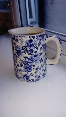 £7 • Buy Heron Cross Blue And White Floral Cream Jugcoalport Egg Cup No Damage