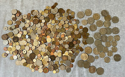 £16.11 • Buy BULK COLLECTION  3.2kg 3200g Uk & MIXED FOREIGN  WORLD COINS, JOB LOT