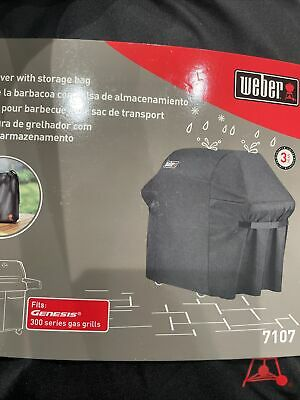 $ CDN80.92 • Buy Weber Grill Cover With Storage Bag 7107 Fits Genesis 300 Series Gas Grills - New