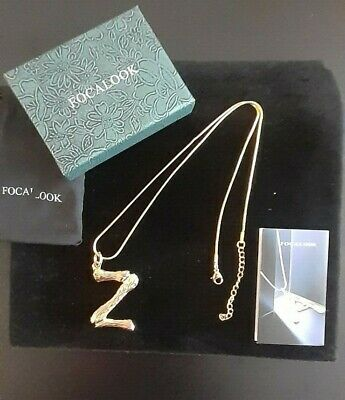 £10 • Buy Focalook Initial Z Gold Plated Necklace - BNIB