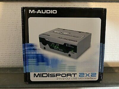 $25 • Buy M-Audio Midisport 2x2 MIDI 2-In 2-Out USB MIDI Interface Bus Powered New Sealed