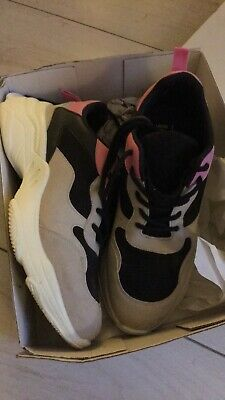 £3.30 • Buy Ladies Pink And Grey Trainers Size 8