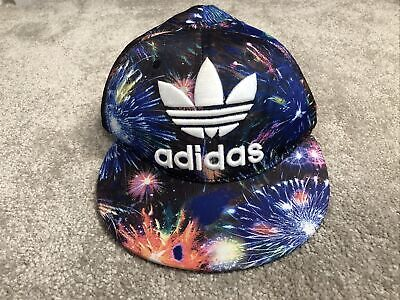 £0.99 • Buy Limited Edition Adidas Baseball Cap - Blue Graphic Fireworks