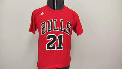 £9.99 • Buy Adidas The Go To Tee Chicago Bulls Mens T Shirt #21 Jimmy Butler Red Cotton M