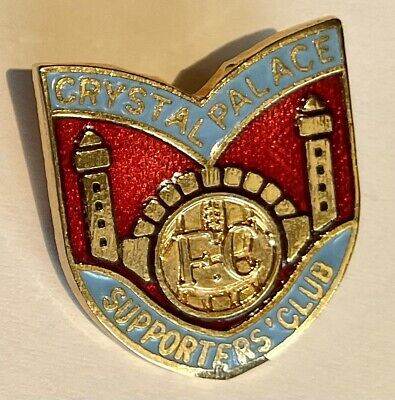 £4.65 • Buy Crystal Palace Fc Badge Supporters Club Vintage Gilt And Enamel Football Badge