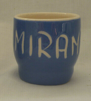 £2.75 • Buy Egg Cup With Name MIRANDA Personalised. Classic Blue & White Style