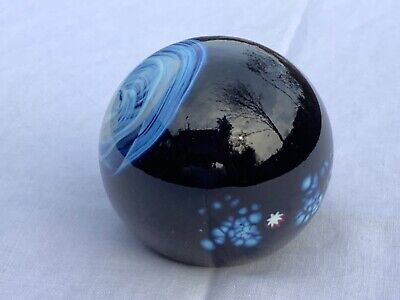 £40 • Buy Rare Opaque Selkirk Glass Paperweight - COULDRON, 1981 With PH Cane