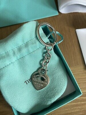 £130 • Buy Return To Tiffany™ Heart Tag Key Ring (RRP £165) Sterling Silver. Brand New