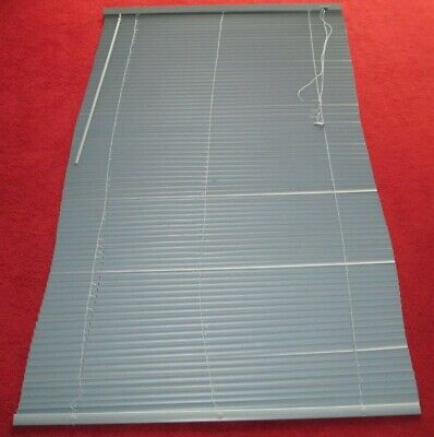 £8 • Buy BLUE - Venetian Blind, 61.5 LONG X 34.5  WIDE, Rod For Opening/closing/. Vgc