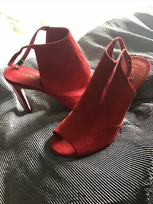 £47 • Buy Ladies NEXT Hot Pink / Magenta / Cherry Red Shoes Size 6 Suede