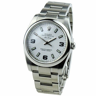 $ CDN7769.50 • Buy Rolex Air-king Oyster Perpetual Stainless Steel Wristwatch 114200 *b&p*
