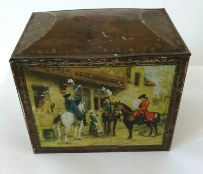 £19.99 • Buy 1920s? W & R Jacob & Co. Biscuit Tin With Tavern Scenes.