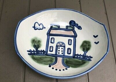 $9.99 • Buy M A Hadley House Venetian Bowl 11in. Stoneware Vintage Country Scenes Serving