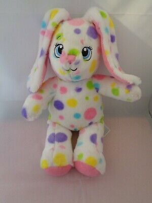 £2.99 • Buy BUILD A BEAR SOFT TOY WHITE MULTI COLOURED RABBIT / BUNNY APPROX 16 Ins