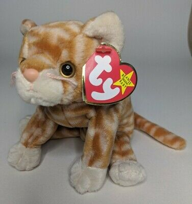 £3.99 • Buy Amber The Ginger Cat Ty Beanie Babies Baby Soft Toy With Tag Teddy Fast Dispatch