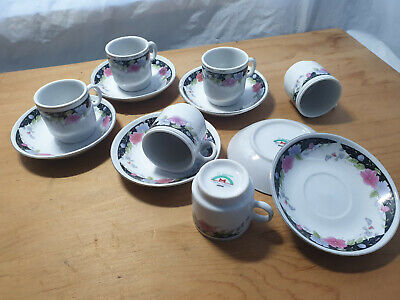 £20 • Buy Set Of 6 Japanese Coffee Cups & Saucers Expresso Shots El Marwa Japan - Free P&P