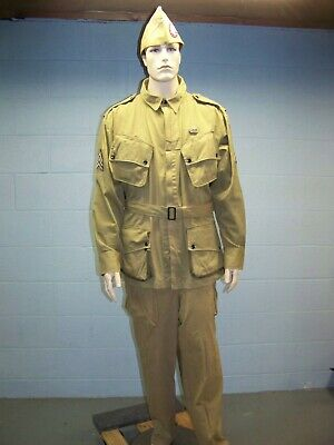 $259.99 • Buy WWII U.S. Army M1942 M42 Airborne Paratroopers Jumpsuit Jacket, Pants & O/S Cap