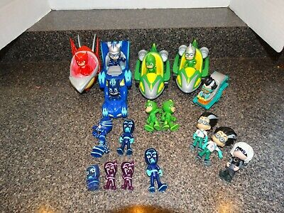 $52.99 • Buy PJ Masks Toy Lot--Figures And Vehicles