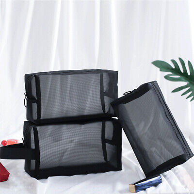 £3.77 • Buy Zipper Toiletry Bag Cosmetic Bag Travel Organizer Mesh Package Makeup Pouch