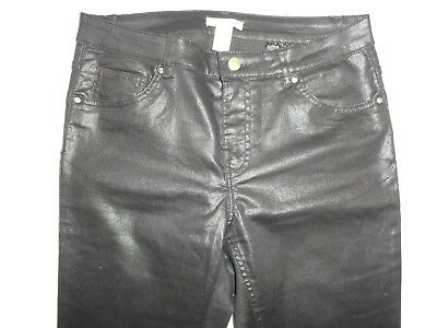 $19.99 • Buy H&M H & M Skinny Shiny Black Jeans Tight Stretch Pants Tagged Size 30 Wet Look