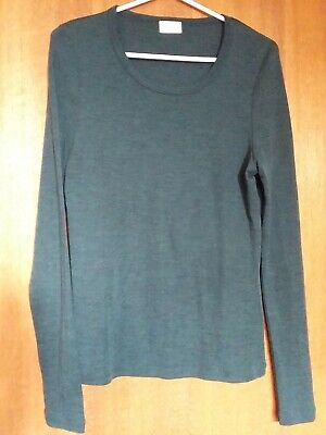 AU22.99 • Buy Gorman 100% Merino Thermal Long Sleeve Top Forest Green Size 14