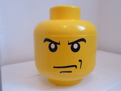 £15 • Buy Lego Small Storage Head With Some Lego & 4 Figures + Dog