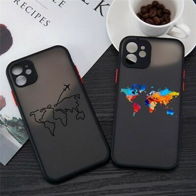 £5.54 • Buy New World Map Travel Airplane Transparent Phone Case For IPhone 12 11 Pro MAX XR