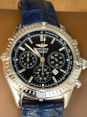 £2495 • Buy Breitling Shadow Flyback Chronograph Watch A35312 Rare Black Dial With Bracelet