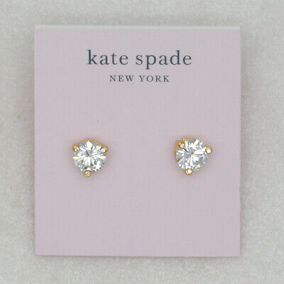 $ CDN12.58 • Buy Kate Spade Jewelry CZ Cut Crystals Claw Stud Earrings 18k Gold Plated For Women