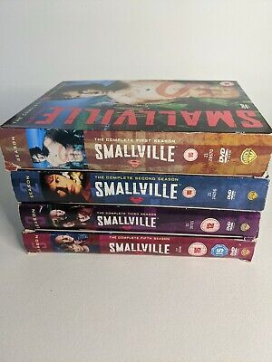 £9.99 • Buy GREAT LOT OF SMALLVILLE DVD BOX SETS COMPLETE SEASONS 1 - 3 + 5 - 24 Discs