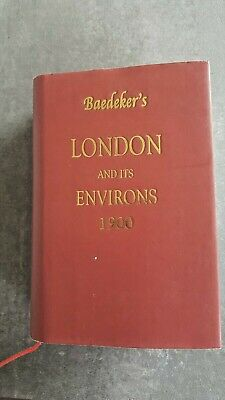 £40 • Buy Baedeker's London And Its Environs 1900