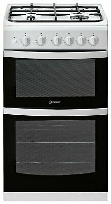 £279.99 • Buy Indesit ID5G00KMW Free Standing 50cm 4 Hob Double Gas Cooker - White