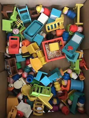 £26.21 • Buy Vintage Fisher Price Little People Job Lot Bundle With Furniture Accessories Toy