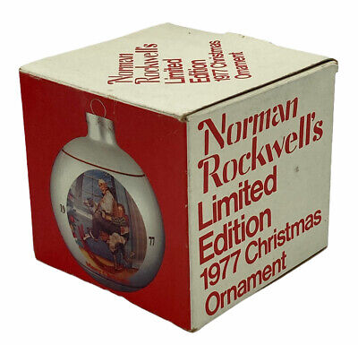 $ CDN18.25 • Buy 1977 Norman Rockwell's Limited Edition Glass Ball Christmas Ornament