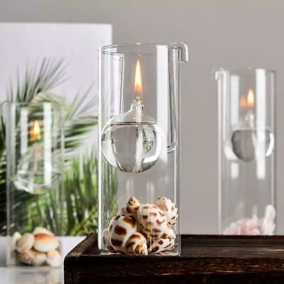 £39.99 • Buy 3 X Indoor Or Garden Oil Lamps, Firelight Glass Floating Moon, One Of Each Size
