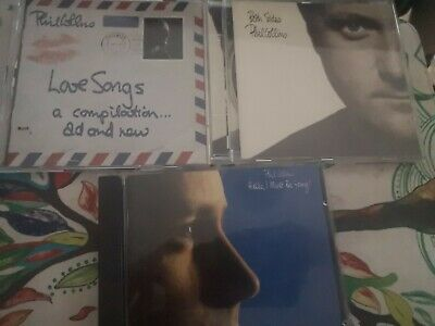 £0.99 • Buy Phil Collins Cds Hello I Must Be Going !, Both Sides And Love Songs (2cds)