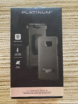 $ CDN13.37 • Buy Platinum Protective Case With Holster For Samsung Galaxy Note 8 Black