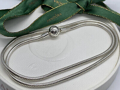 AU135 • Buy Pandora Sterling Silver Necklace Size 50cm 590742 Authentic 590703 Snake Chain