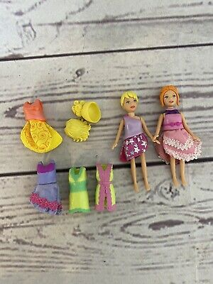 £12.99 • Buy Polly Pocket Doll Bundle Magnetic Features X2 With Clothing