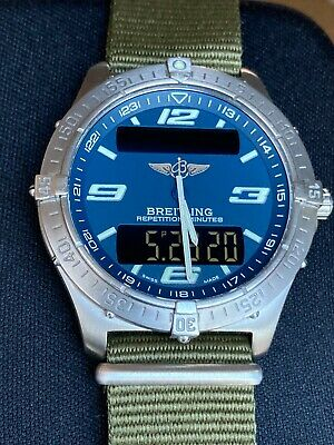 £995 • Buy Breitling Aerospace Watch E65362 Repetition Minutes Serviced 2019 Titanium Case