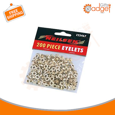 £3.99 • Buy 200 Spare Eyelets Rings For Fabric Punch Pliers Leather Canvas Hole Puncher Tool